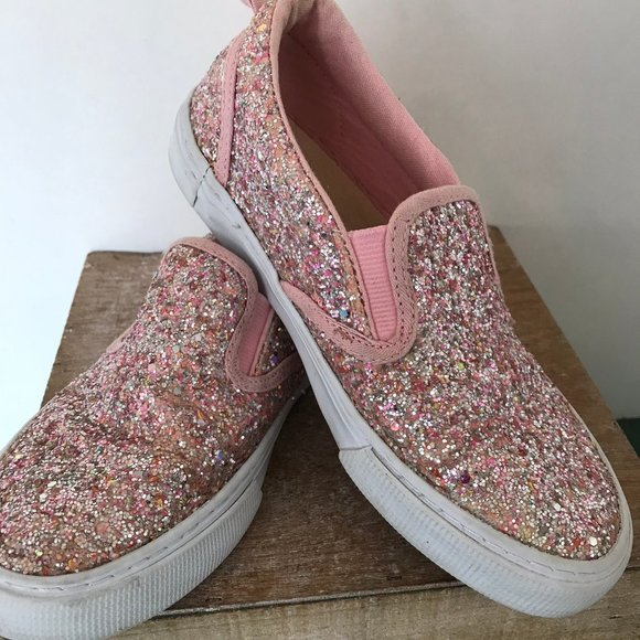 GAP Factory Other - Gap Kids Pink Sparkles Slip Ons